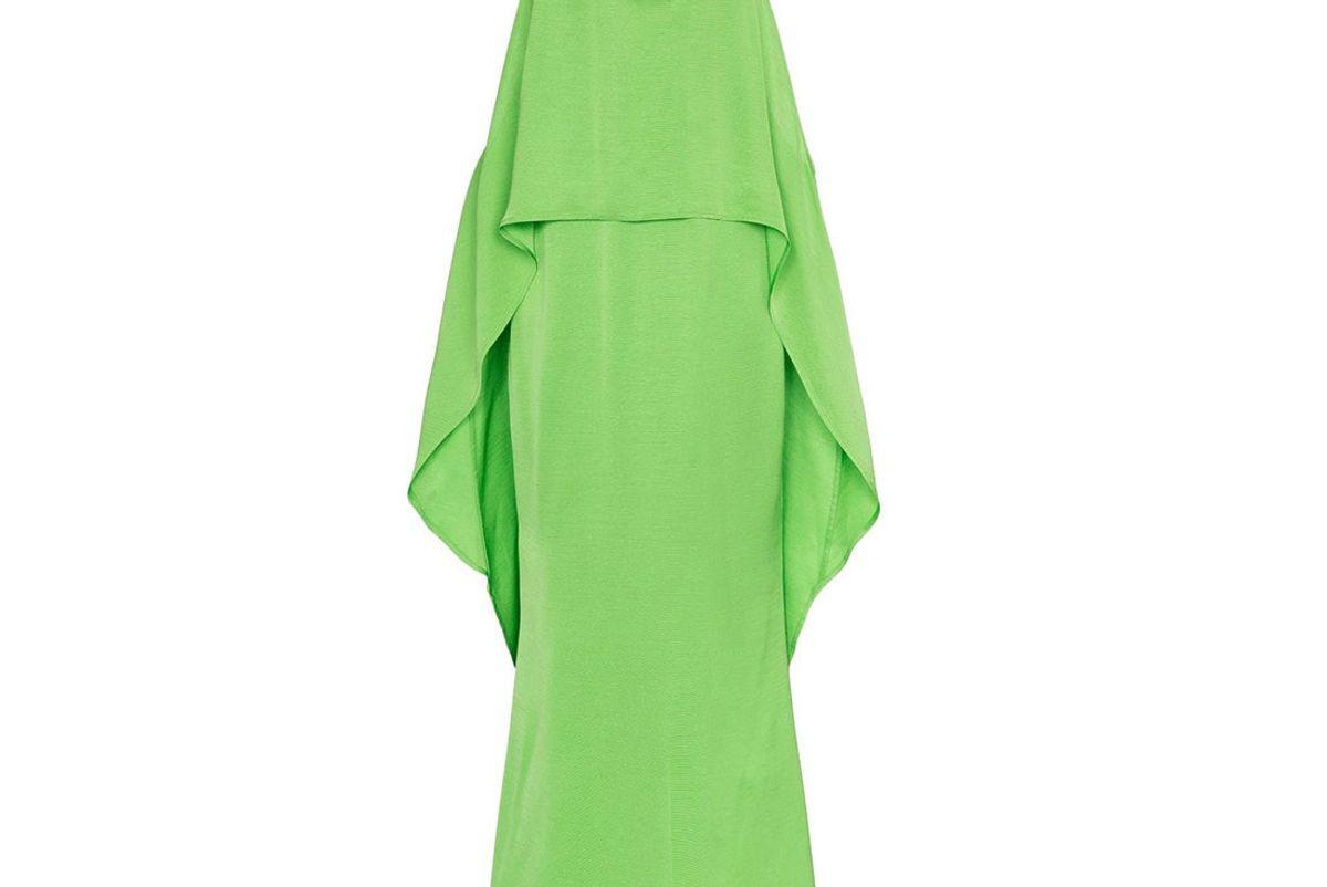 cult gaia cocoon faille maxi dress