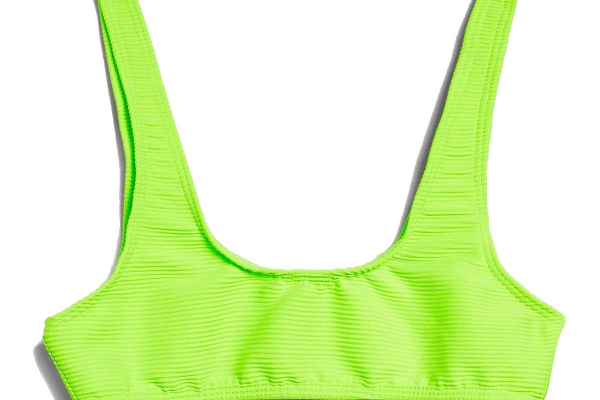 topshop cropped bikini top