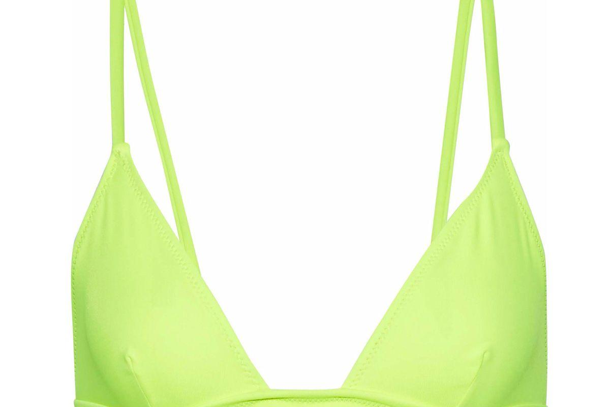 solid and striped the morgan neon triangle bikini top
