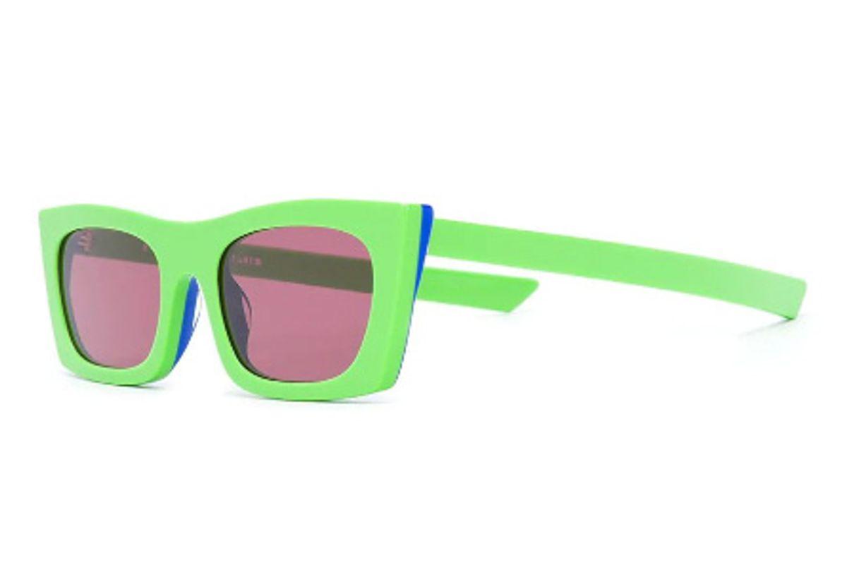 retro super future fred square frame sunglasses