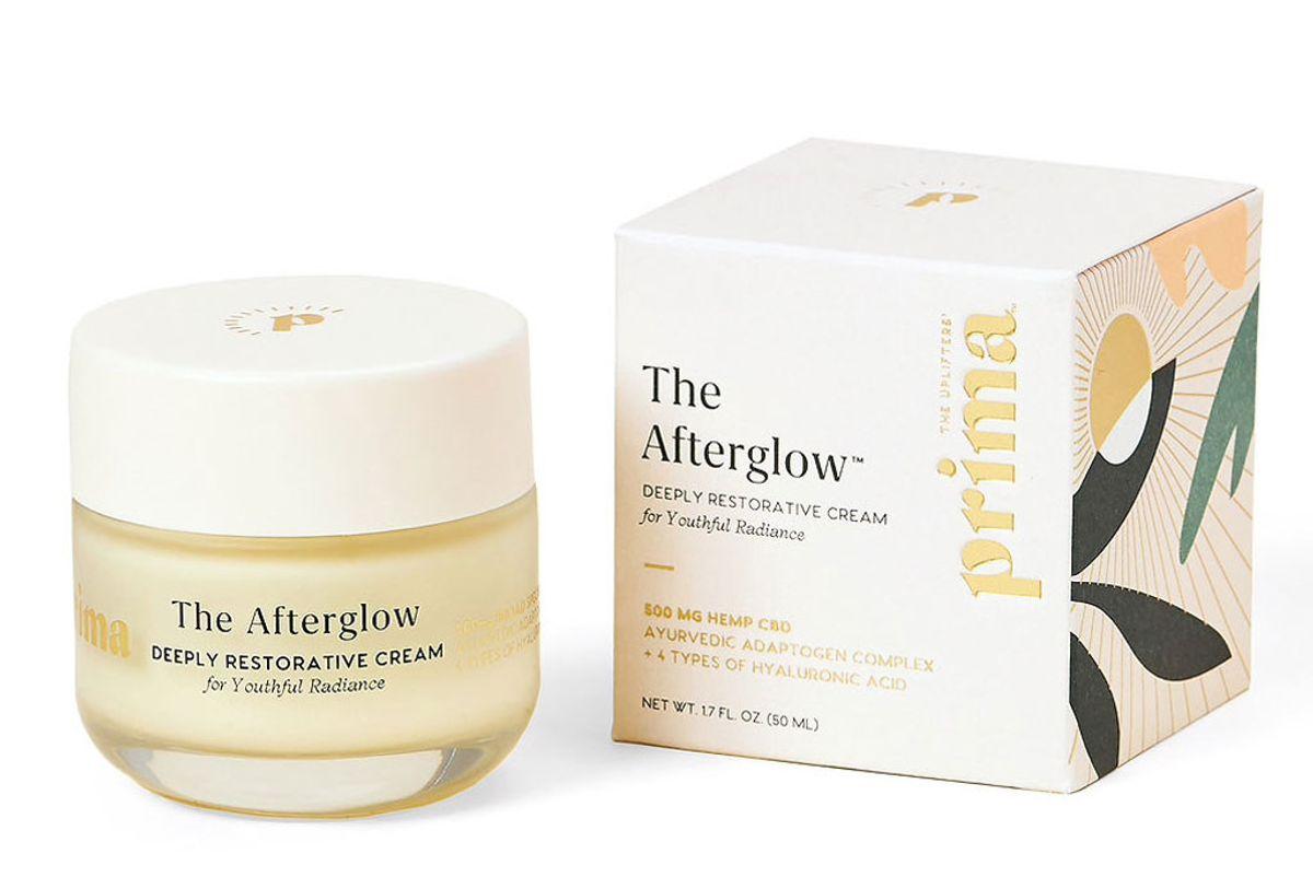 prima the afterglow 500mg cbd deeply restorative moisturizer