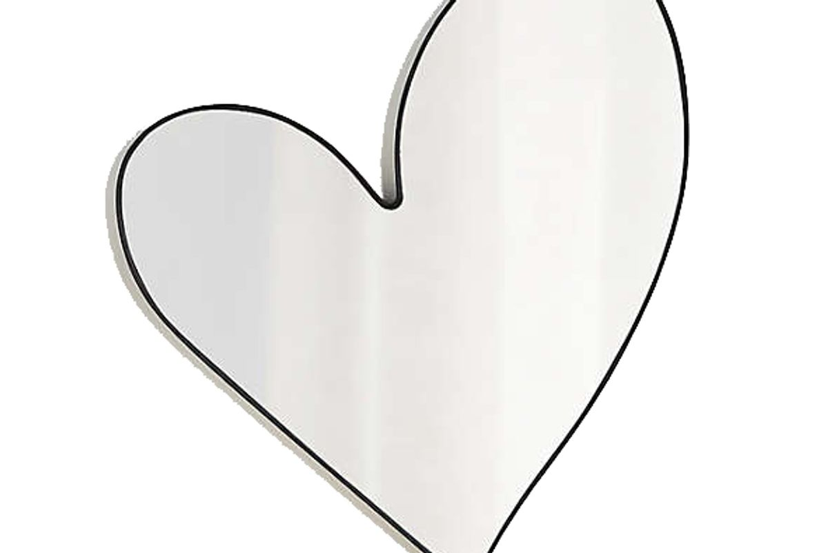 crate and barrel heart wall mirror