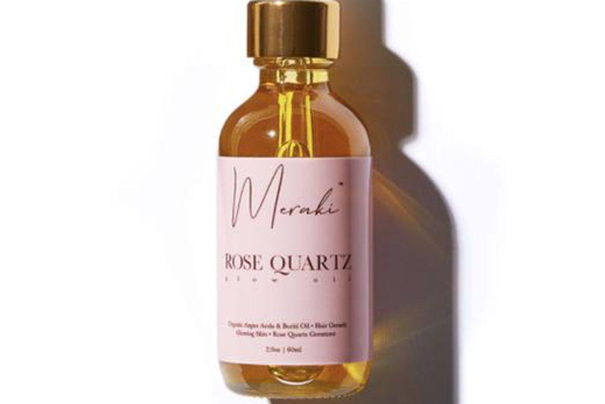 meraki rose quartz multi purpose glow oil