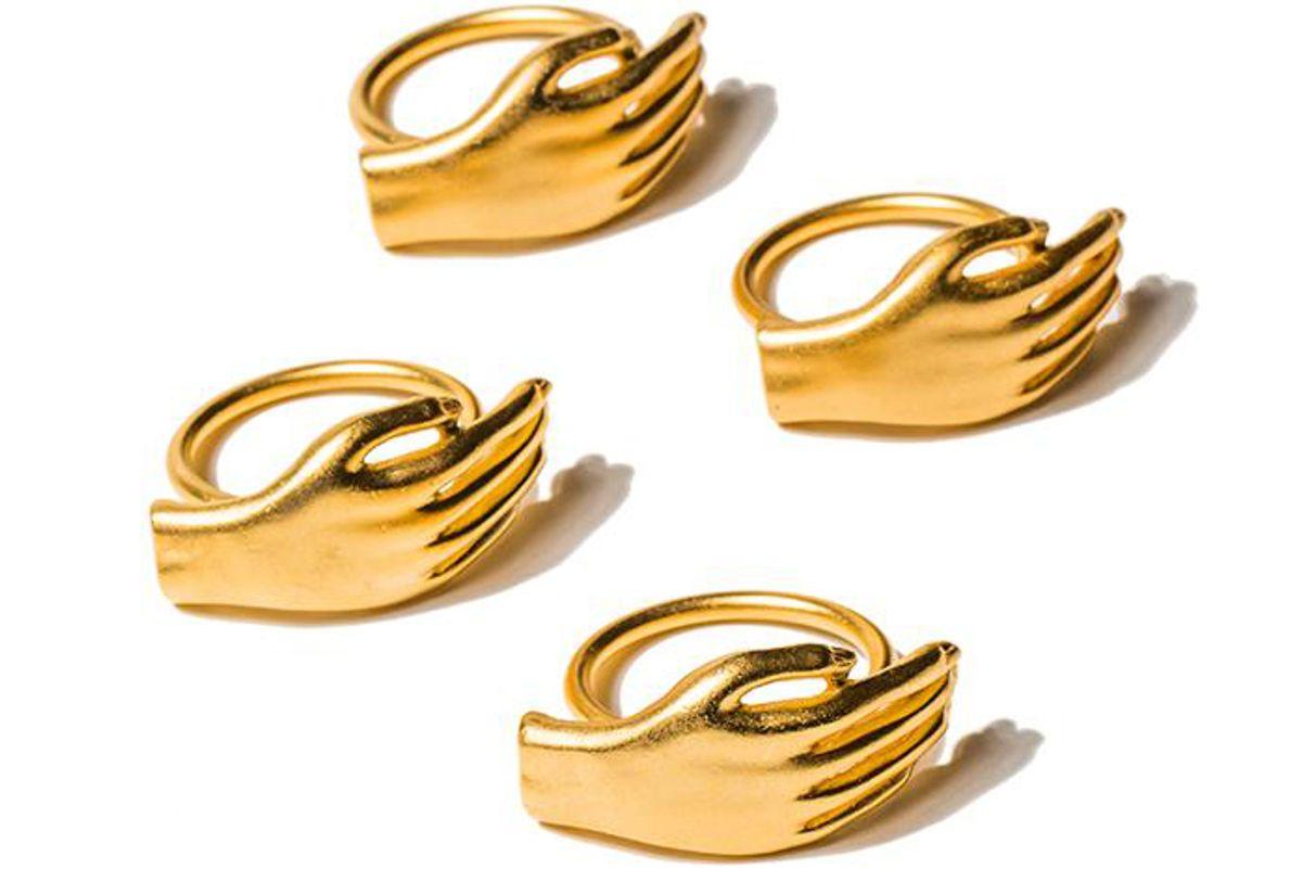 dada i wanna hold your napkin ring set