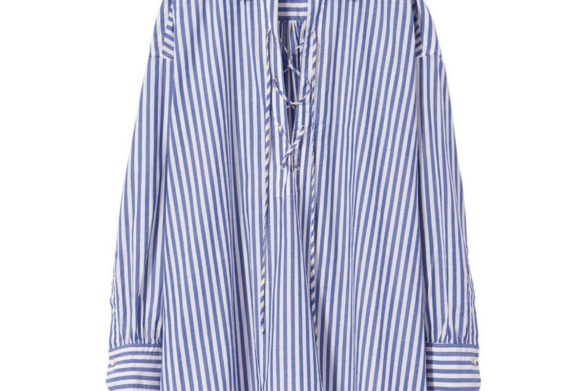 Blue Stripe Shiloh Top