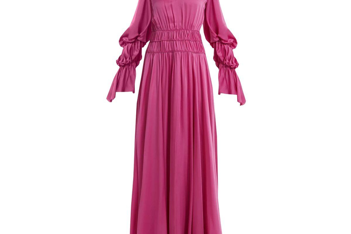 roksanda ansari gathered rope detail silk gown