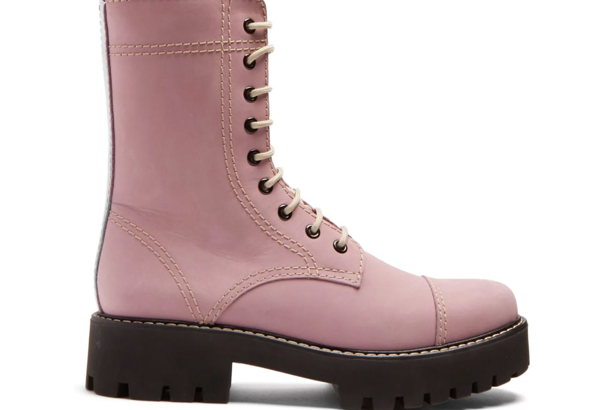 alexachung contrast stitch leather boots