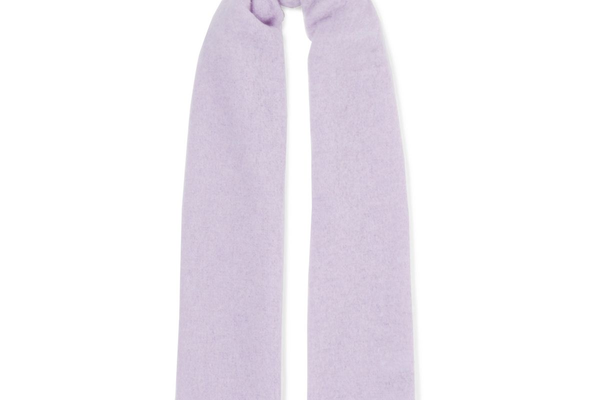 holzweiler pimula fringed textured knit scarf