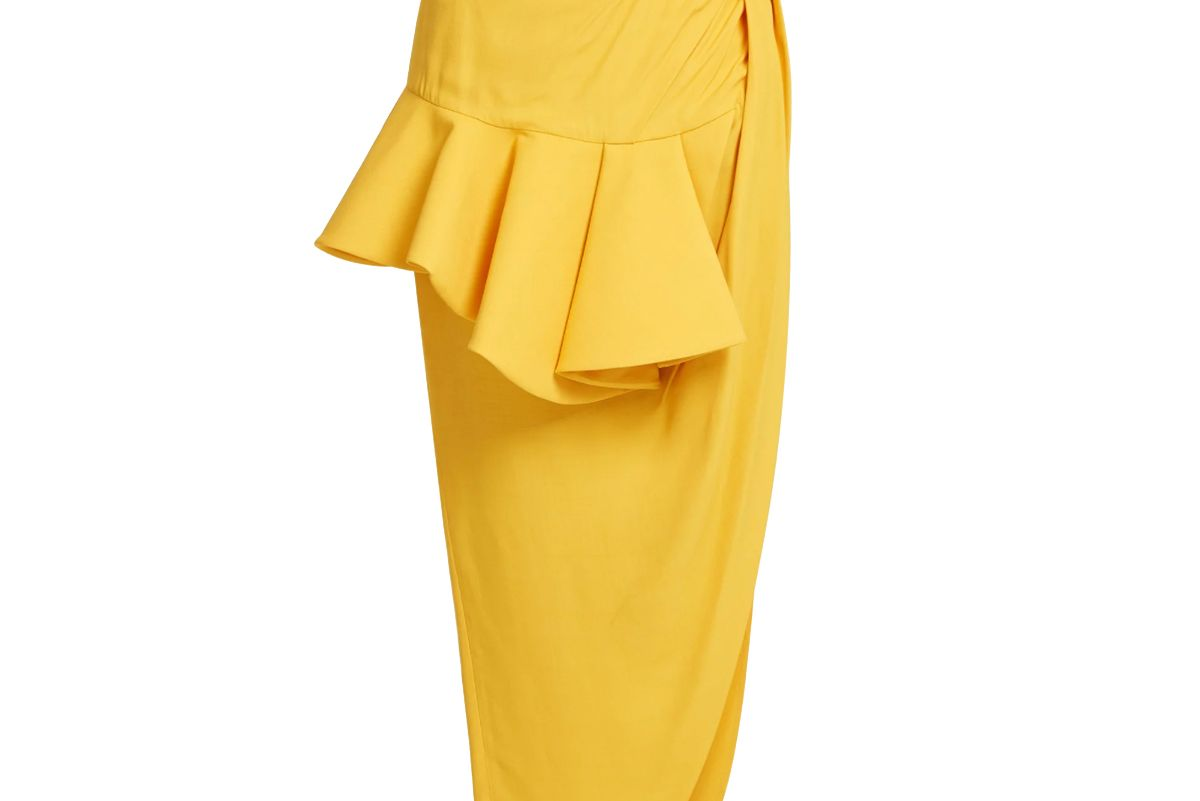 jacquemus sol asymmetric draped wrap skirt