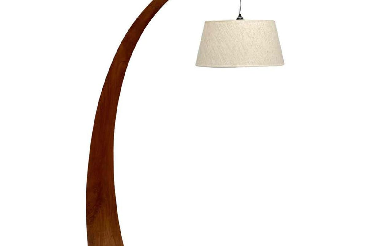 vintage arc floor lamp in style of j.t. kalmar