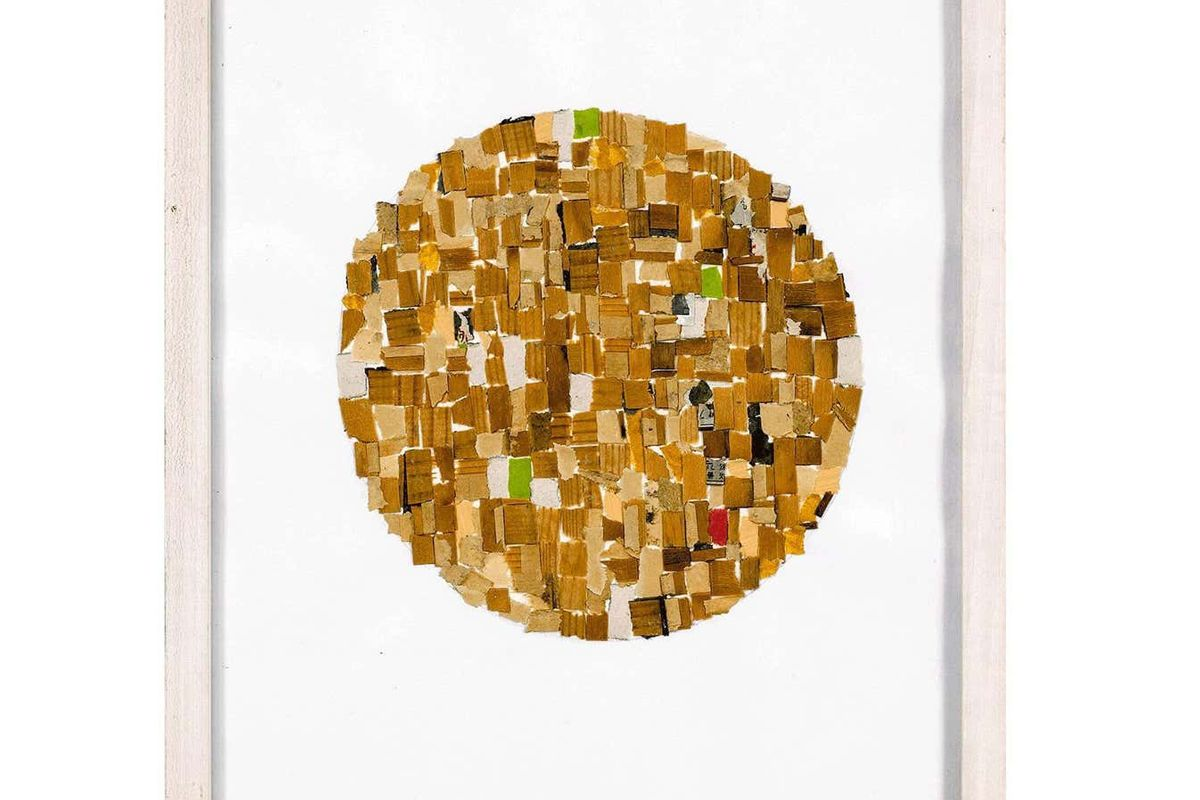 alejandra icaza mixed media abstract collage 1989
