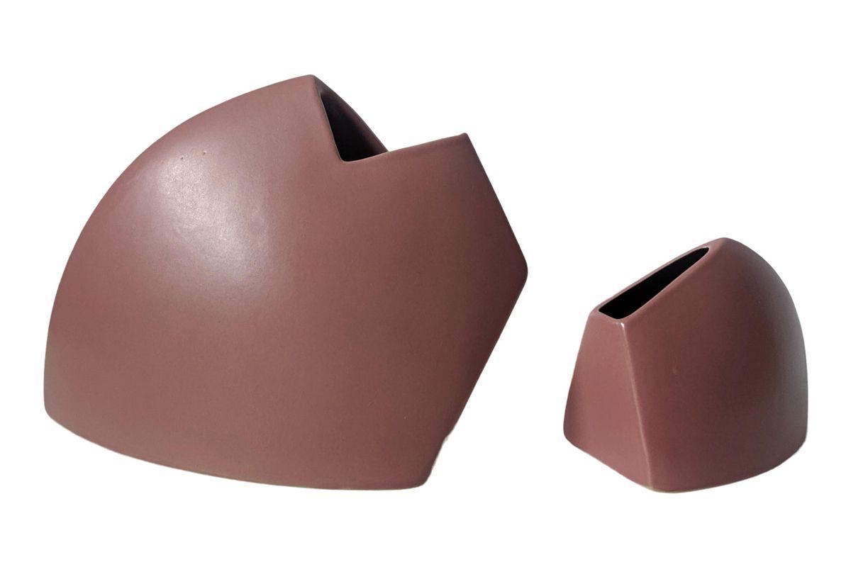 james johnston vintage sculptural vessels vases