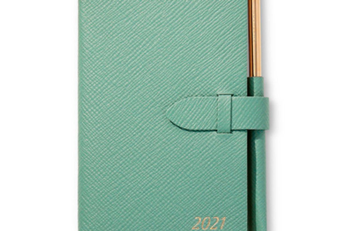 smythson 2021 panama agenda with gilt pencil