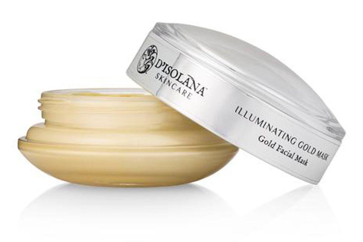 d'isolana skincare illuminating gold mask