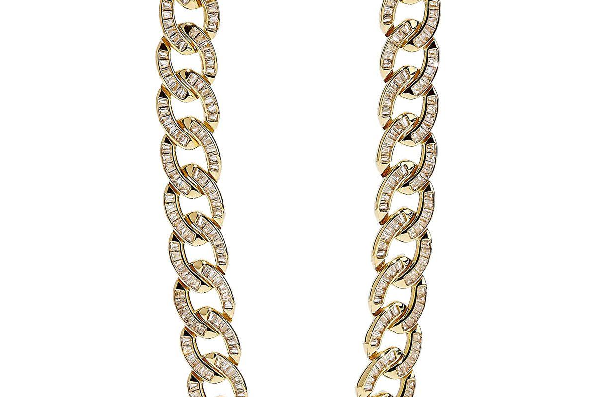 noir jewelry 14 karat gold plated crystal earrings