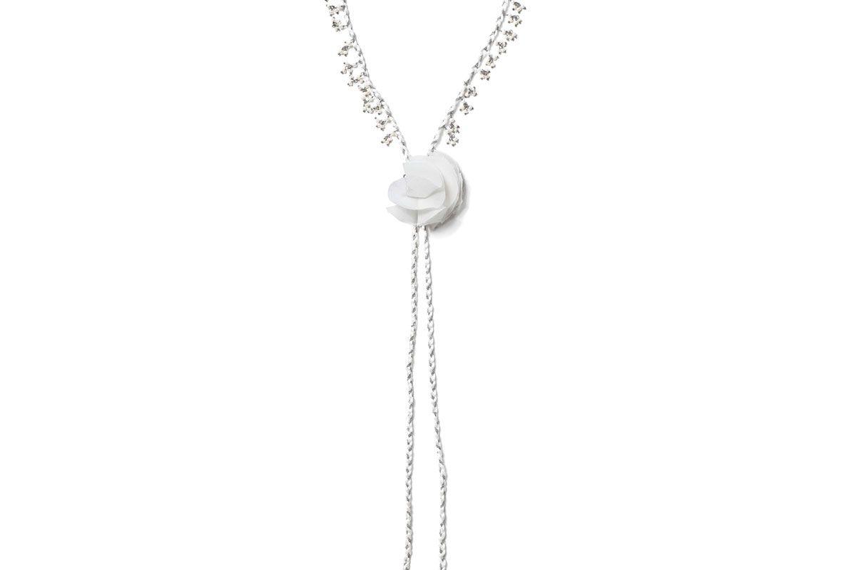 rosantica seta palladium plated pearl and silk headband
