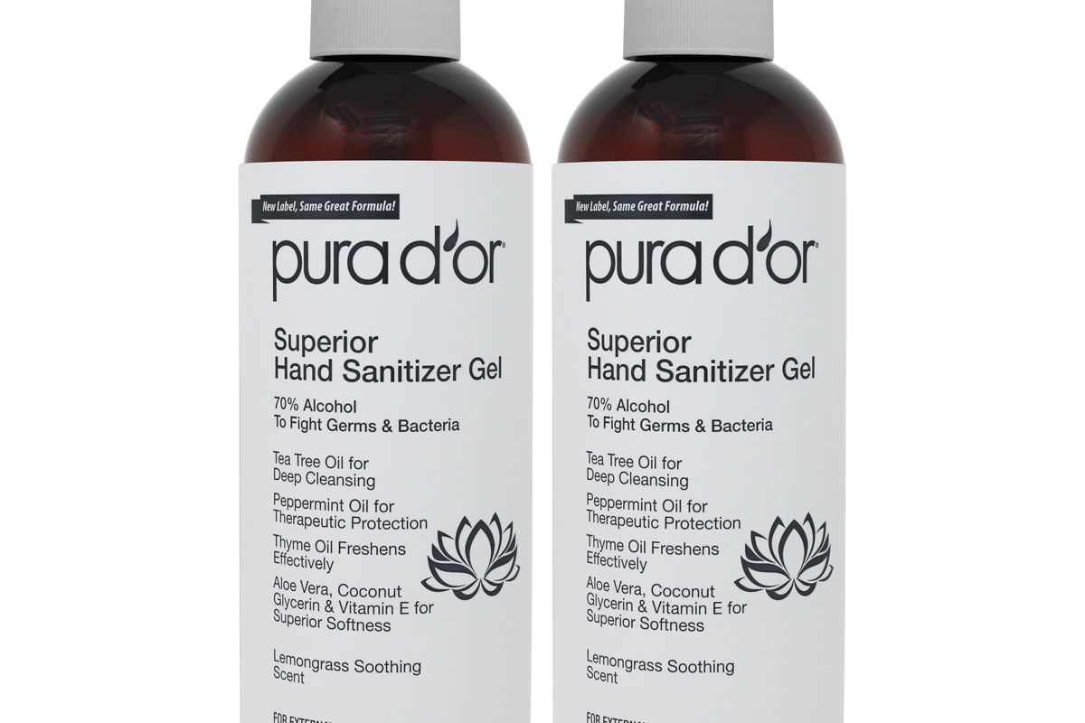 pura d'or lemongrass hand sanitizer