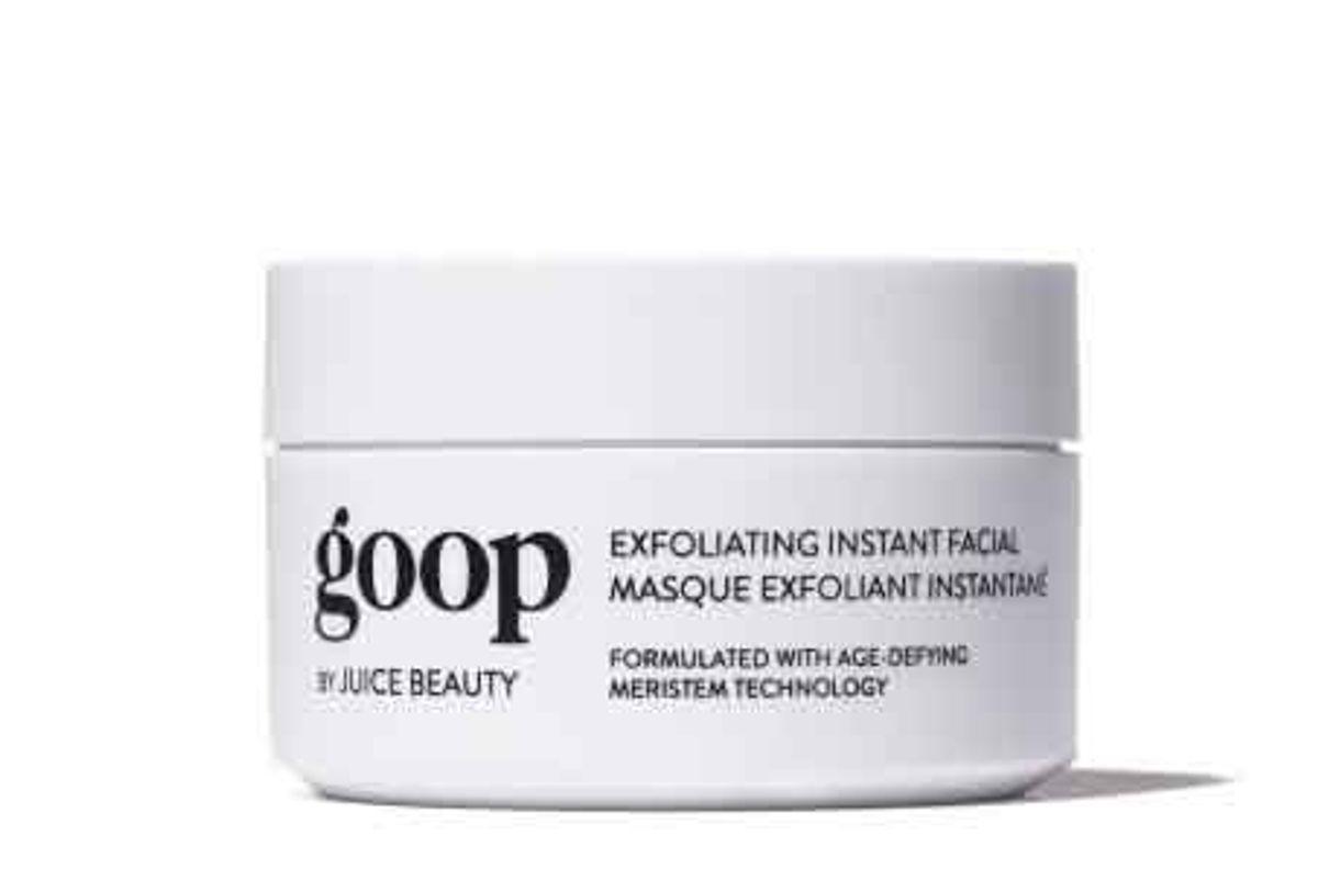 goop juice beauty exfoliating instant facial