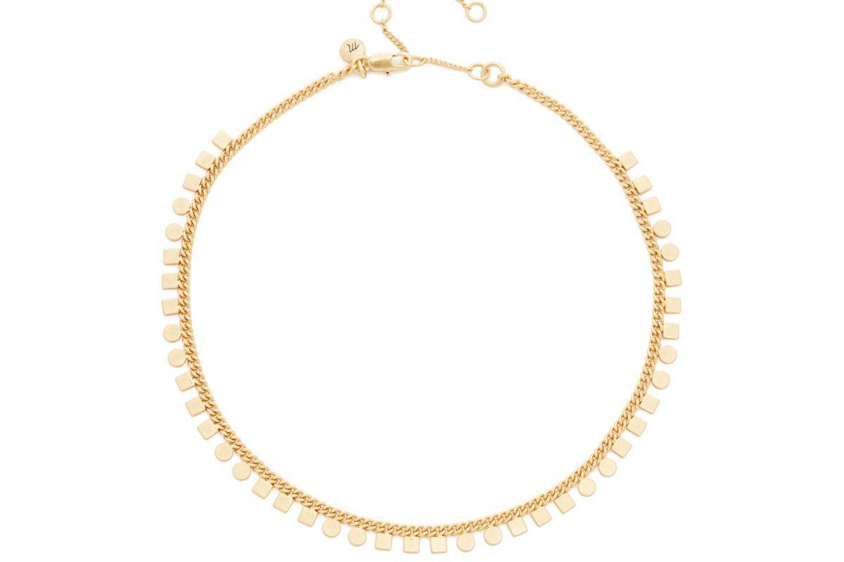 mini geochain choker necklace