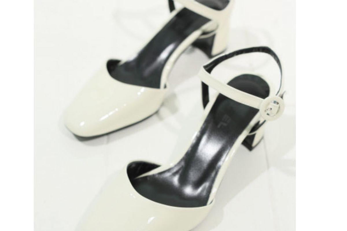 carel paris white patent leather sandals