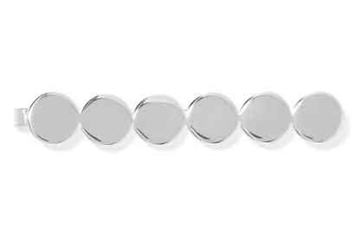 saskia diez paillettes silver plated hair slide