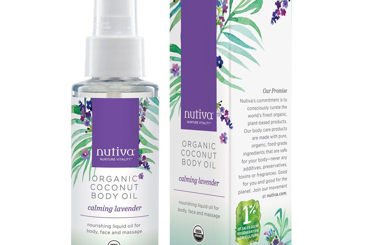 nutiva organic coconut body oil calming lavender