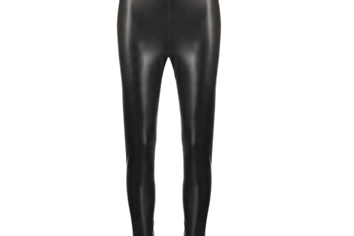 saint laurent high waist latex leggings