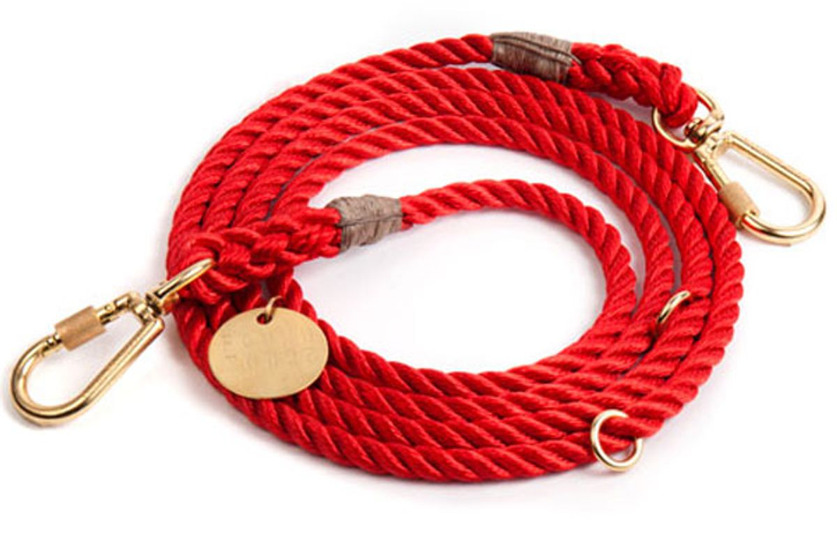 Red Synthetic Rope Dog Leash, Adjustable
