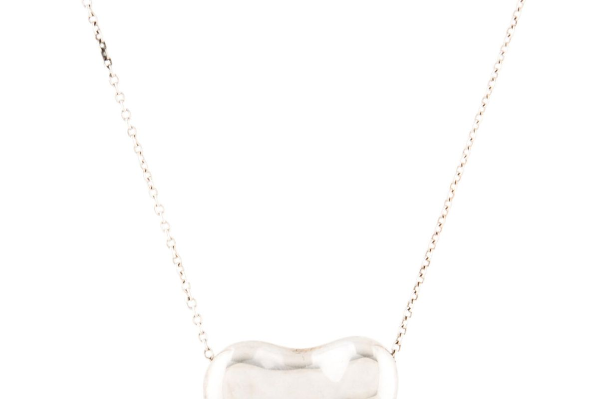 tiffany and co bean design pendant necklace