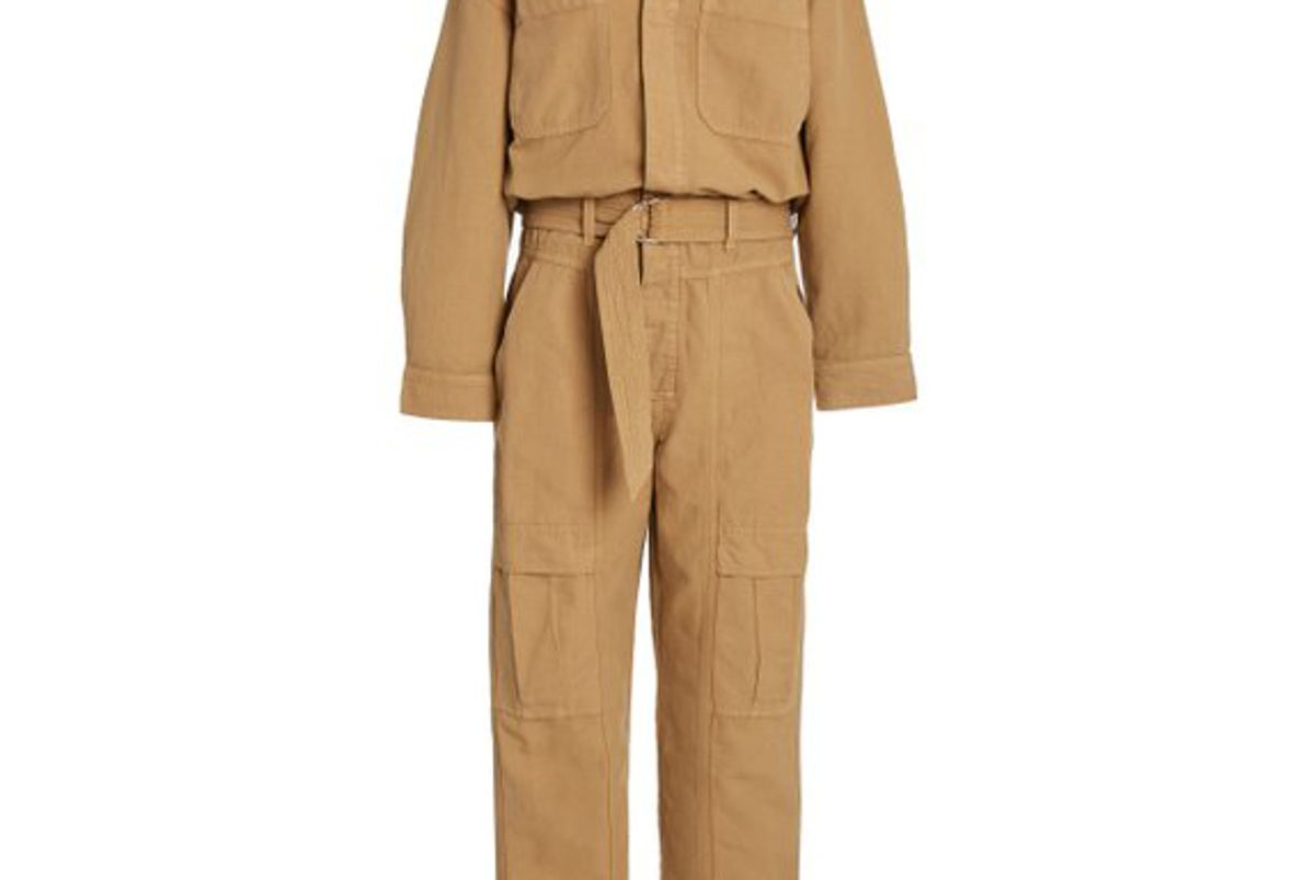 citizens of humanity willa belted cotton utility jumpsuit