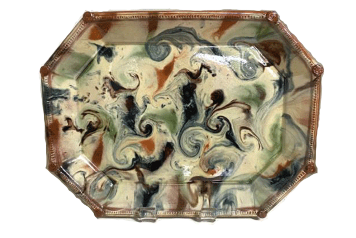 french country pottery platter