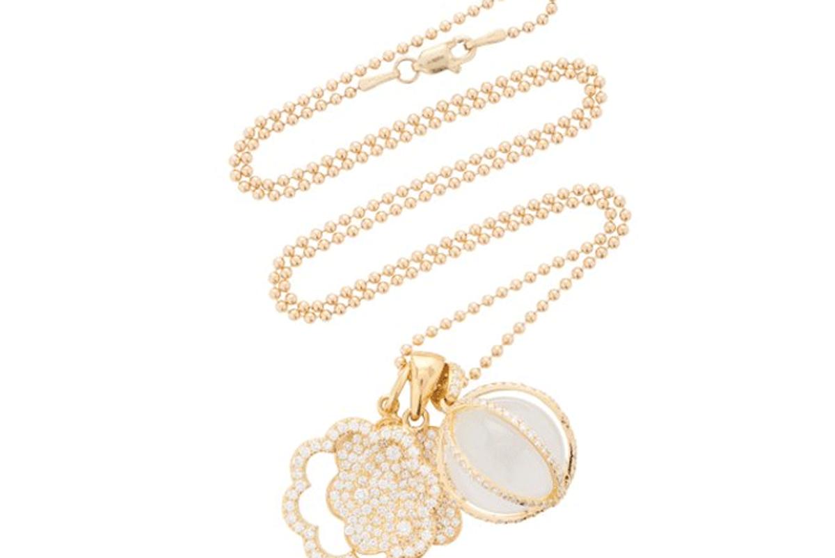 ashley mccormick trio 18k gold and diamond necklace