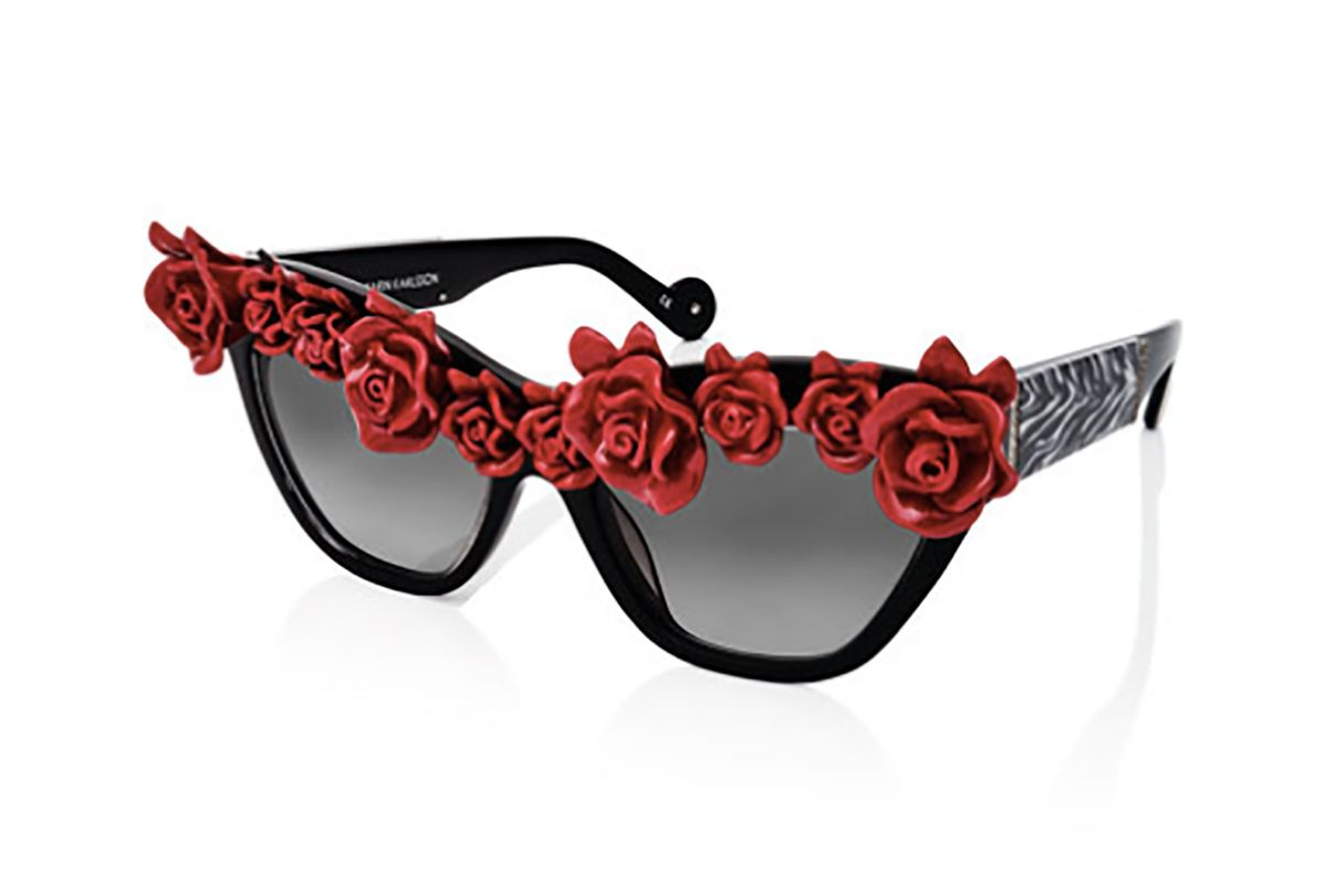 'Cause I Flippin' Can Rosette Cat-Eye Sunglasses