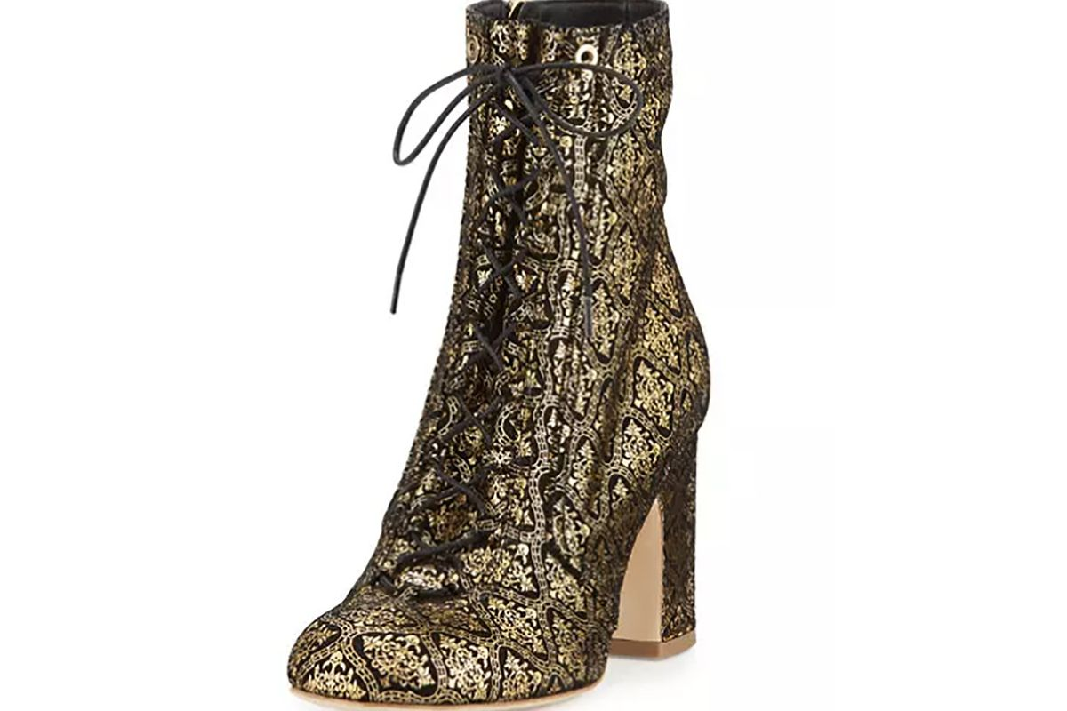 Milly Embossed Suede Boot