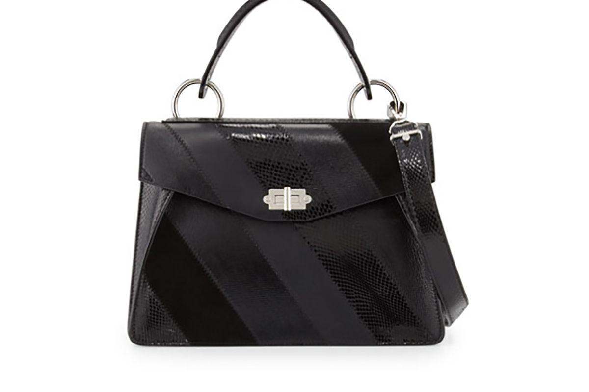 Hava Medium Striped Top-Handle Satchel Bag