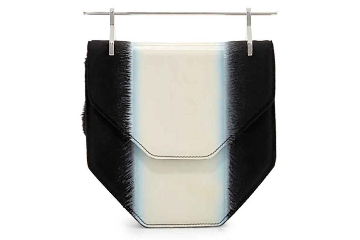Amor Fati Colorblock Calf Hair Satchel Bag