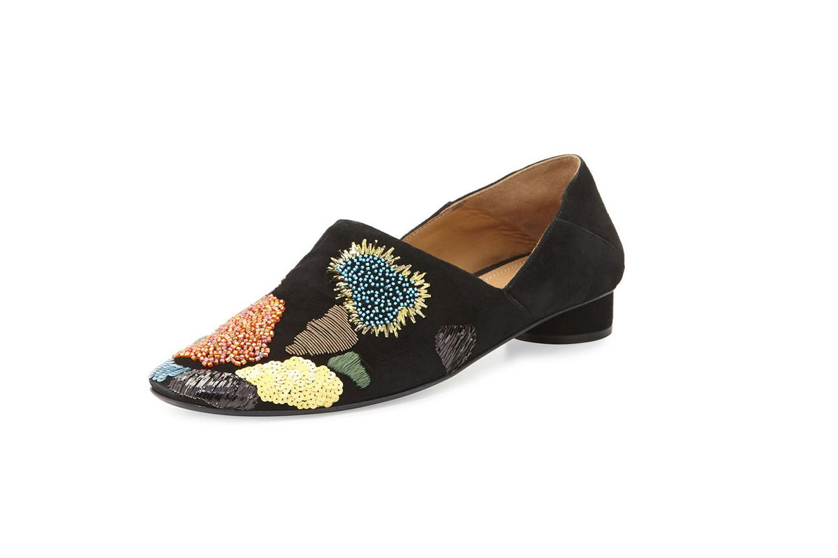 Boelle Embroidered Suede Flat