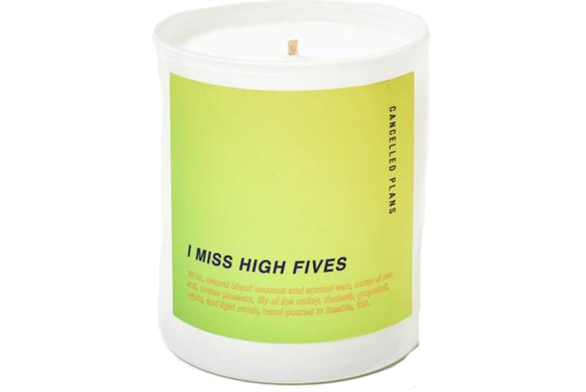 cancelled plans i miss high fives candle