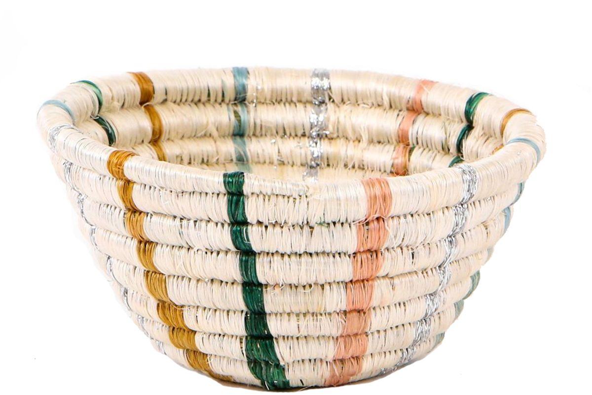 kazi goods tiny floret striped catchall