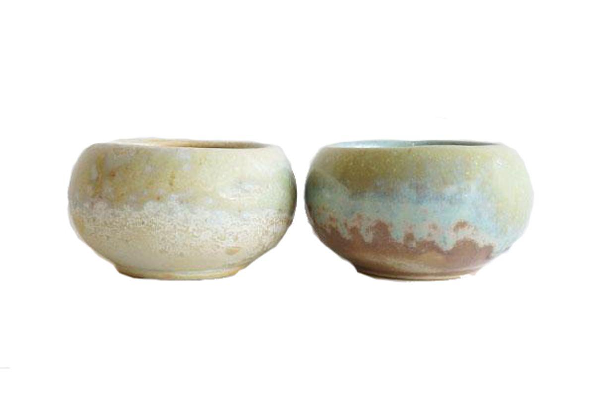 pigment opal reactive glaze bowl