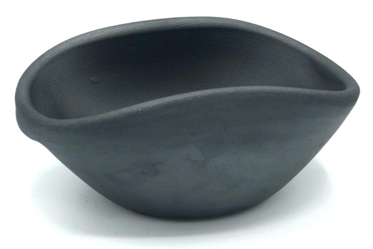 domain by laura hodges studio black ceramic bowl