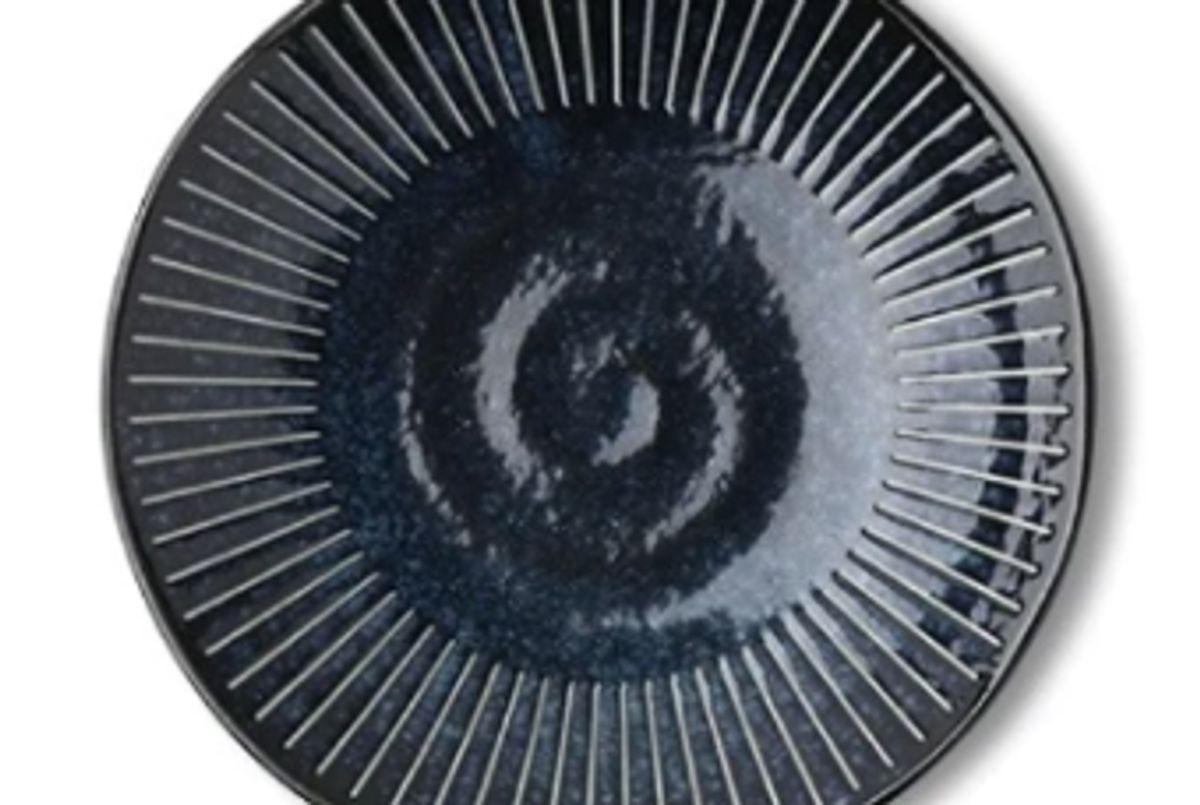 salt and sundry blue namako side plate