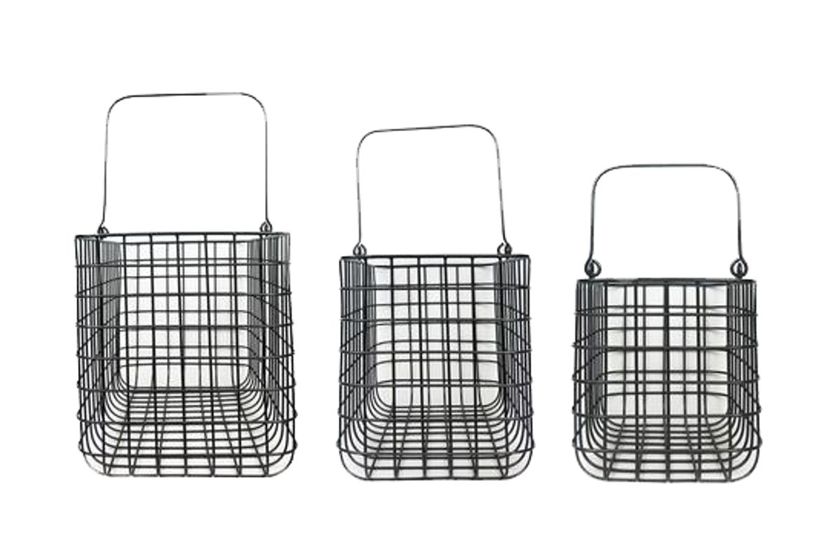 civil alchemy forever useful metal basket with handles set of 3