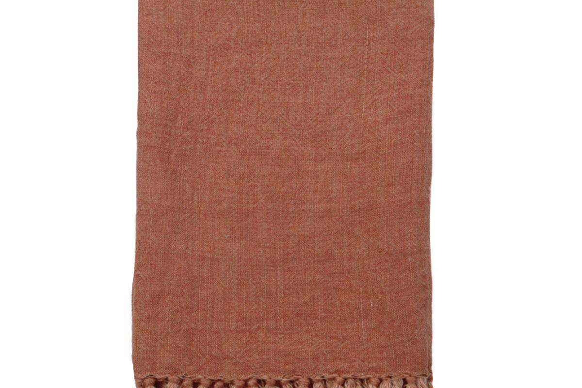 shop by salt organic charcoal linen throw