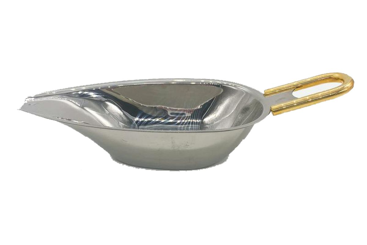kellys vintage treasures gold handled stainless steel gravy boat