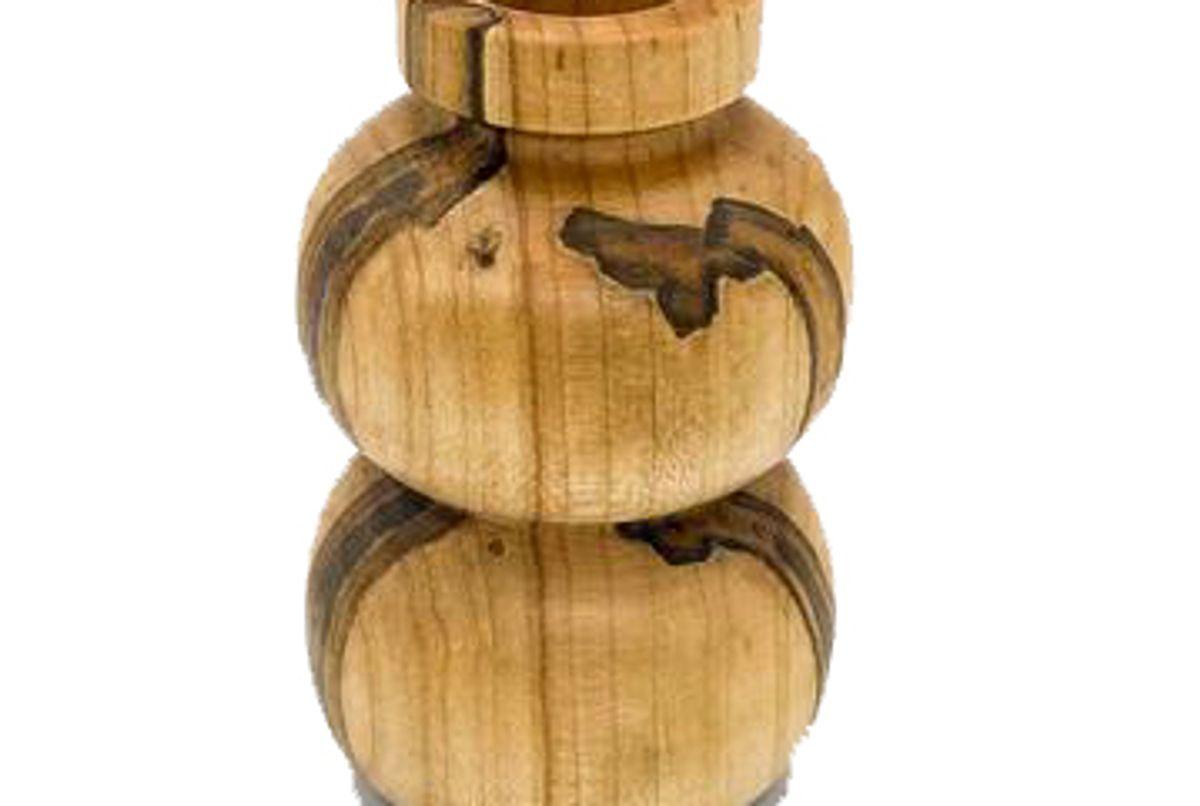 hanna dausch ambrosia maple mini wood vase