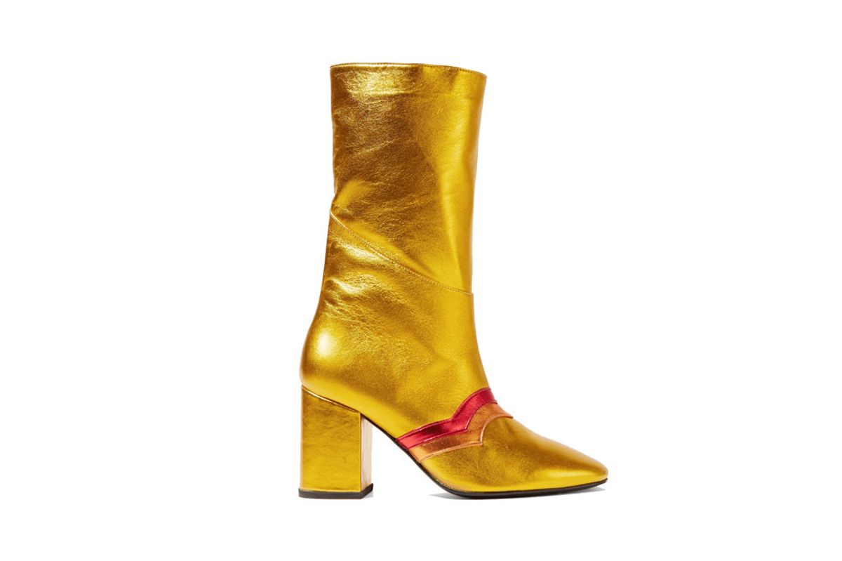 I'm Here To Party Metallic Leather Boots