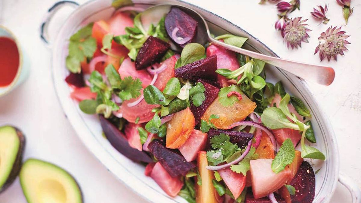 This Avocado & Beet Salad Can Help Even Out Your Complexion