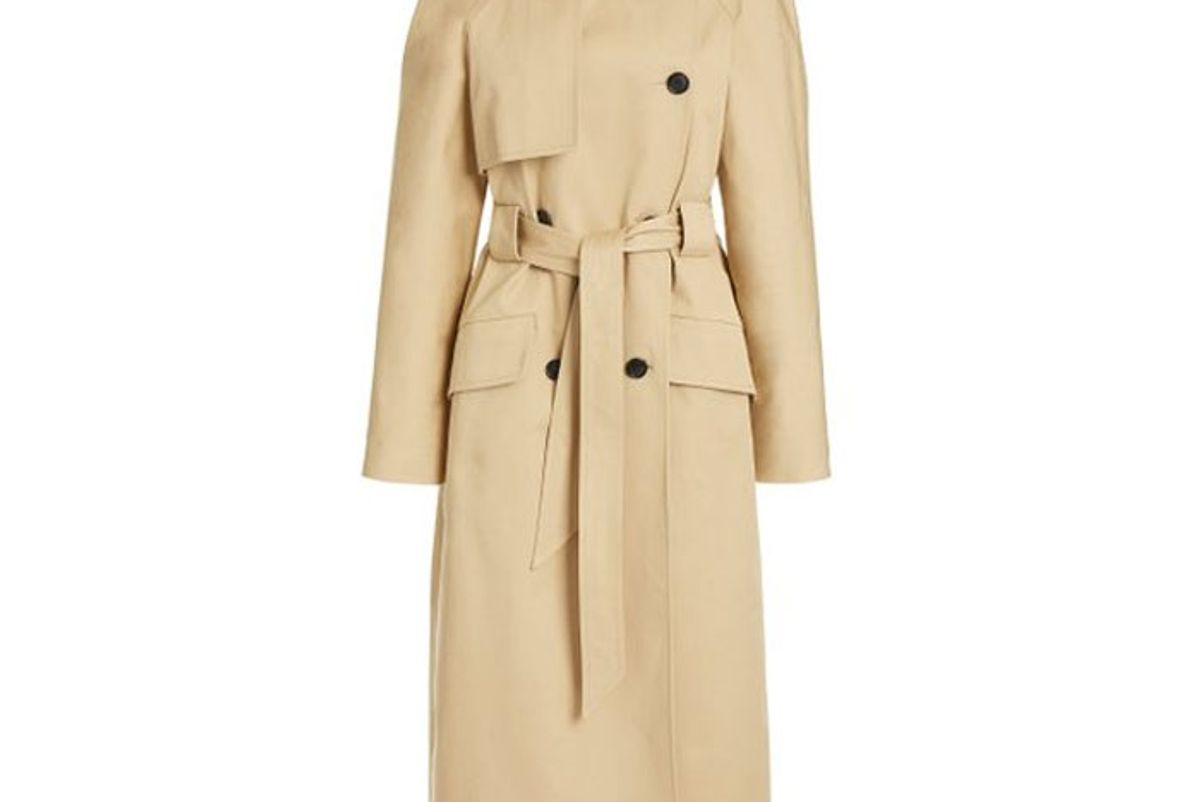 martin grant cotton gabardine trench coat