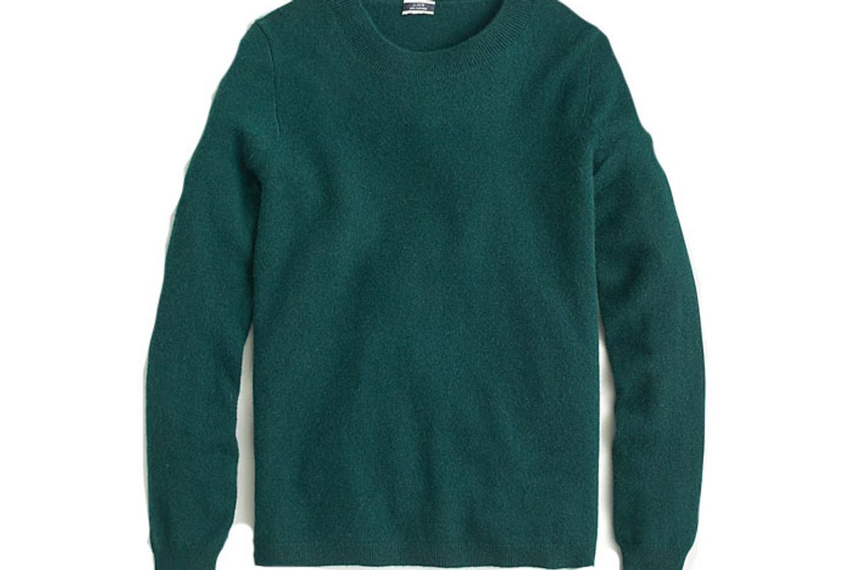 j crew cashmere crewneck sweater